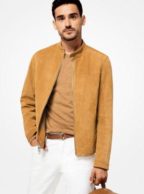 perforated suede racing jacket | michael kors