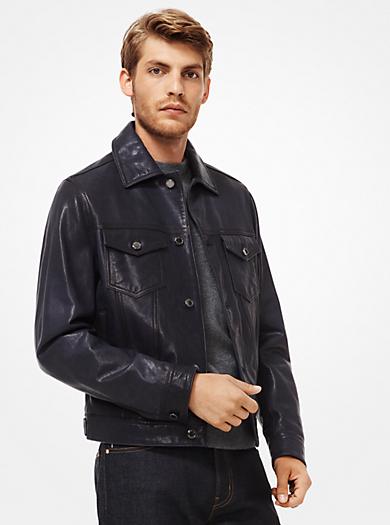 3ba9972c68d7 Burnished Leather Jacket · michael kors mens · Burnished Leather Jacket ·   598.00 598.00 · Varsity Jacket