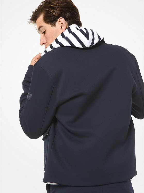 Bonded Stretch-Twill Harrington Jacket