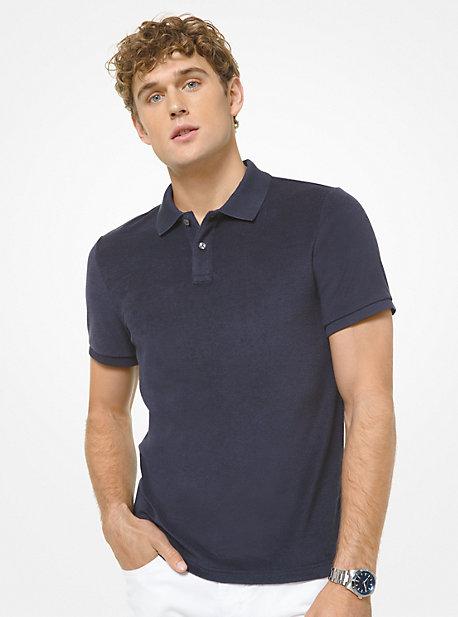 마이클 코어스 맨 폴로 셔츠 Michael Kors Cotton Blend Terry Polo Shirt