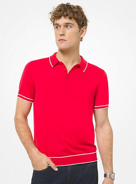 마이클 코어스 맨 폴로 셔츠 Michael Kors Cotton and Silk Polo Shirt