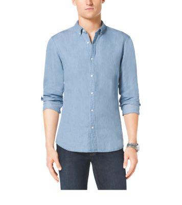 2b549c382e3b Slim-Fit Cotton and Linen Shirt