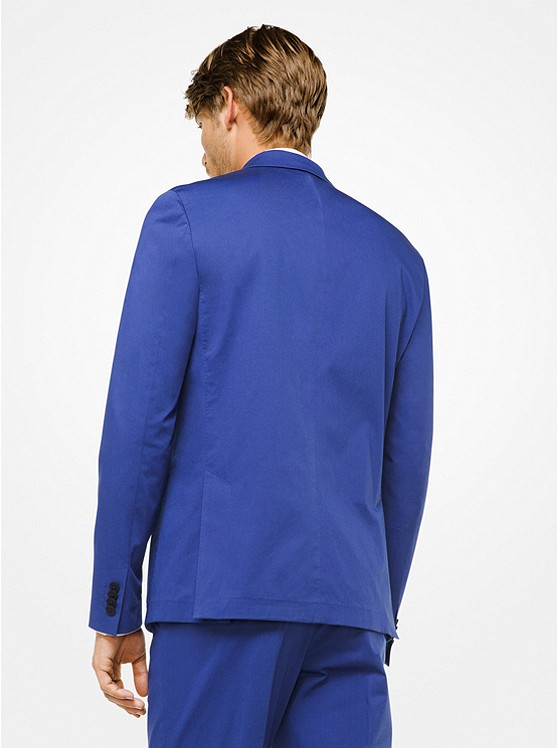 Slim-Fit Stretch-Cotton Blazer