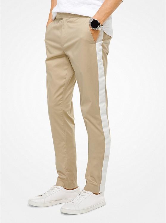 Slim-Fit Contrast Stripe Trousers