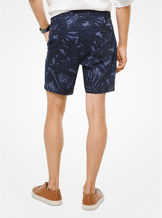 Tropical Stretch-Cotton Shorts