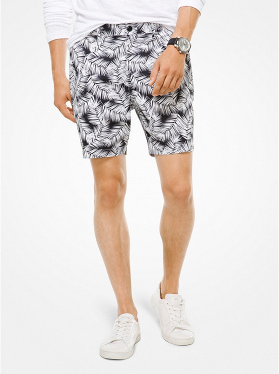 Palm Cotton-Poplin Shorts