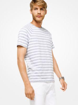 striped stretch-cotton shirt | michael kors