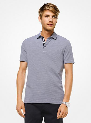 Striped Cotton Polo Shirt
