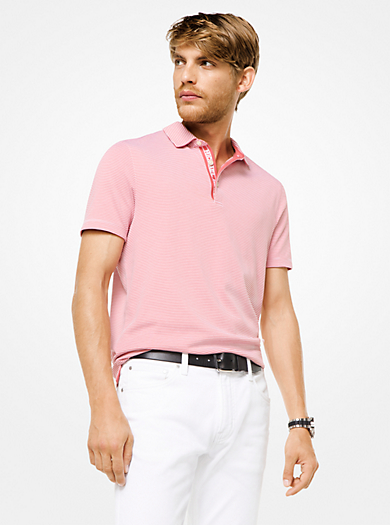 QUICKVIEW. michael kors mens · Striped Cotton Polo Shirt