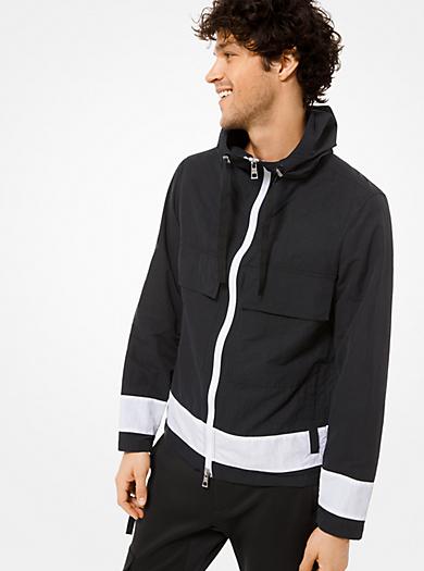 8fd9e2598a20 Color-Block Nylon Hooded Jacket