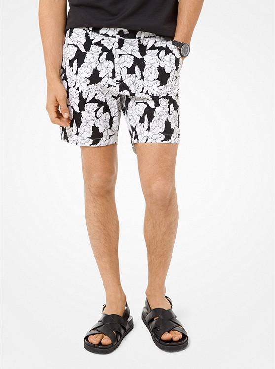 8d0e6e2f14025 Floral Stretch-cotton Shorts | Michael Kors