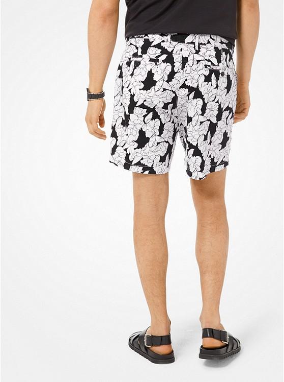 0254327c4b591 Floral Stretch-Cotton Shorts Floral Stretch-Cotton Shorts