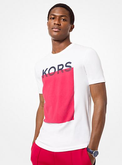 BLANCO. Camiseta con bloque de color y logotipo · michael kors mens ... 4b4216980eaa4