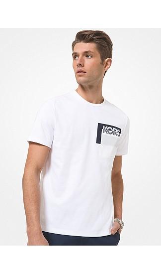 Michael Kors Mens Logo Pocket Cotton T-shirt