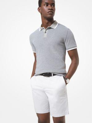 Cotton Jacquard Polo Shirt | Michael Kors