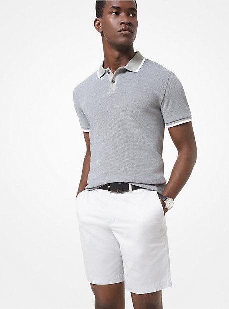 마이클 코어스 맨 폴로 셔츠 Michael Kors Cotton Jacquard Polo Shirt,HEATHER GREY