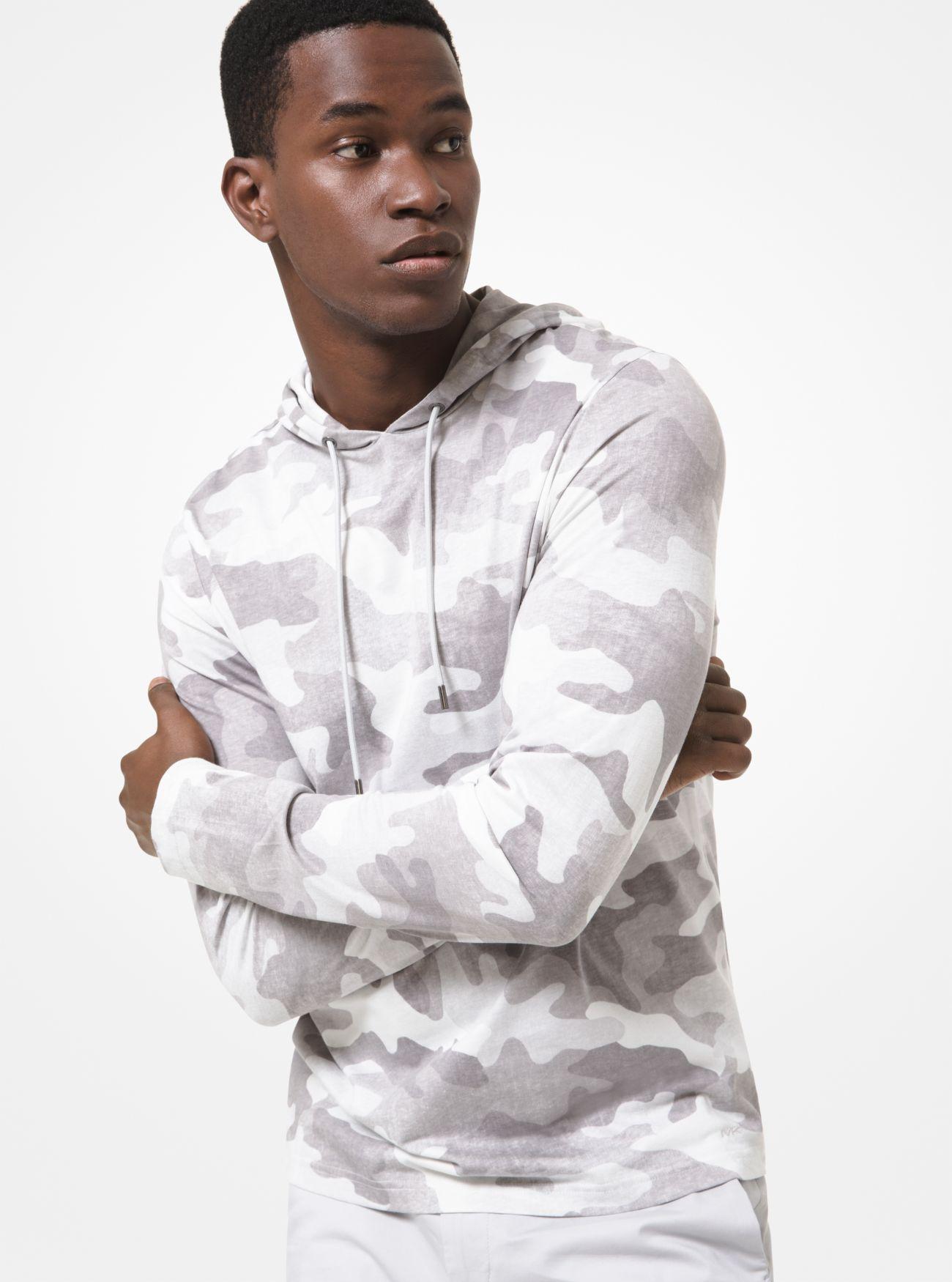Michael Kors Men's Camouflage Cotton Jersey Hoodie