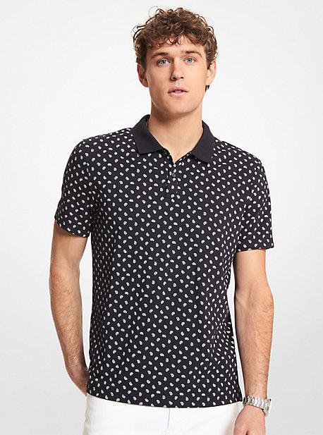 마이클 코어스 맨 폴로 셔츠 Michael Kors Paisley Stretch Cotton Polo Shirt