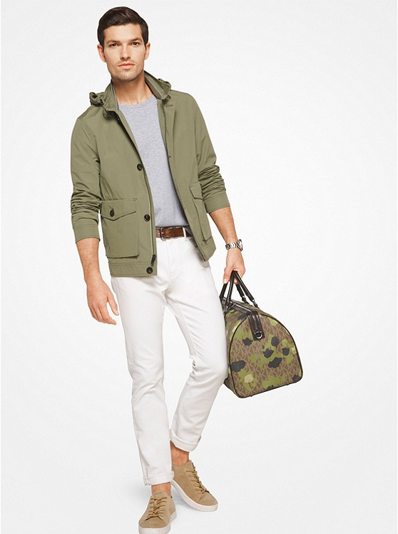 Hooded Cotton-Blend Jacket