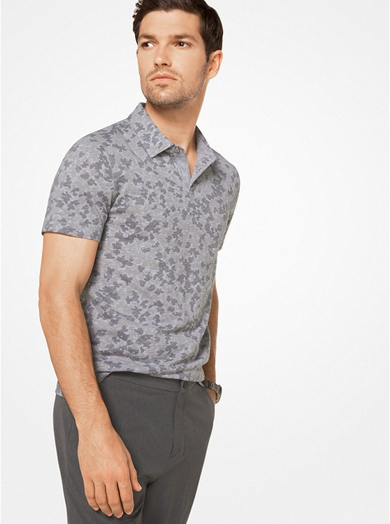 Camouflage Cotton Polo Shirt