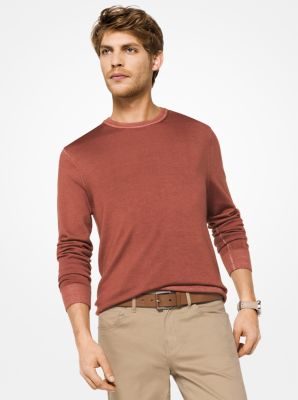 washed merino wool pullover | michael kors