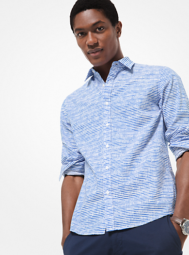2116f5e408 Camisa slim-fit a rayas de algodón · michael kors ...