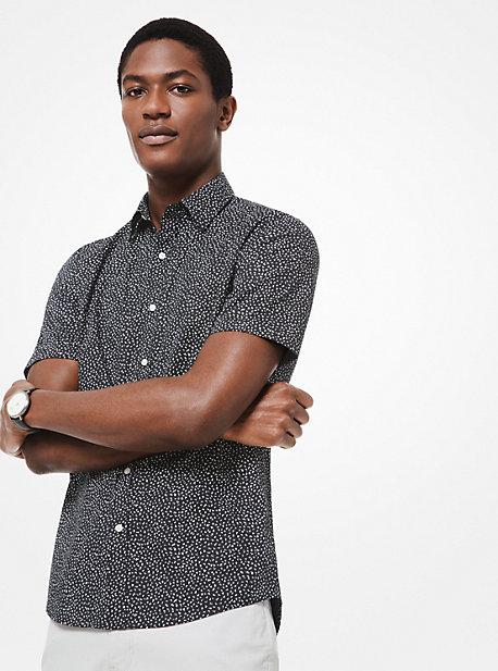 3fdc22ce43321a Slim-Fit Printed Stretch-Cotton Shirt. michael kors mens · Slim-Fit Printed  Stretch-Cotton Shirt