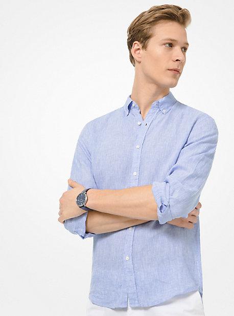 3d886e48866a Slim-Fit Linen Shirt. michael kors mens · Slim-Fit Linen Shirt ·   135.00 135.00. CORNFLOWER. TWILIGHT BLUE