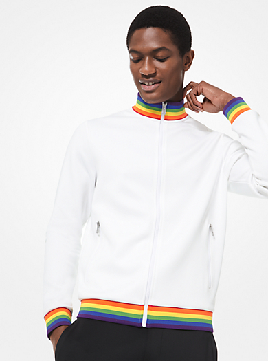 0b2ccd5514 Giacca sportiva con finiture arcobaleno