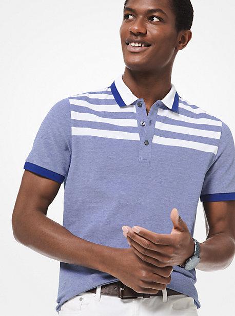 056570a4e Striped Stretch-Cotton Polo Shirt