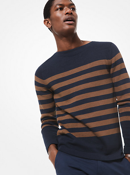 db4aed40de1533 Striped Cotton Sweater. michael kors ...