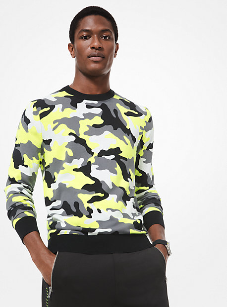 fd059825d85a1d Camouflage Cotton Sweater. michael kors ...