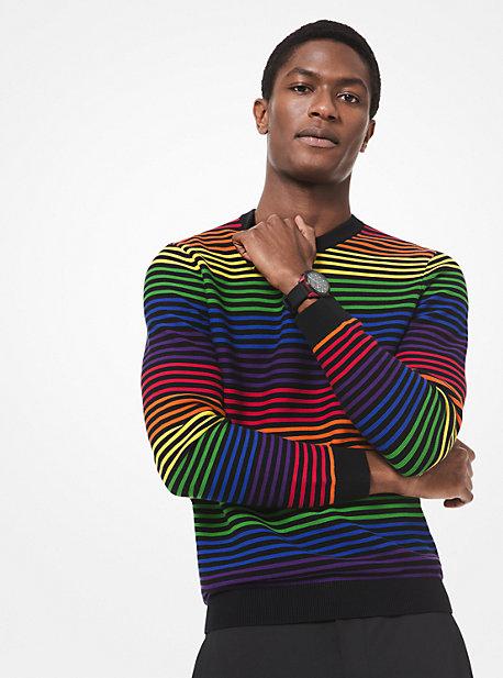34e50d31e9828c Rainbow Stripe Cotton Sweater · michael kors ...