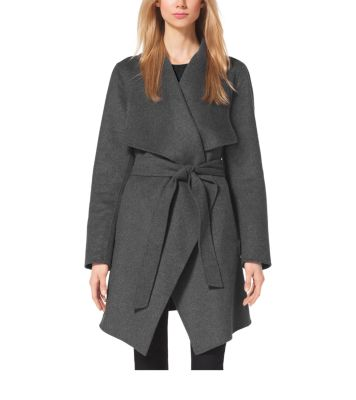 good texture luxury fashion bottom price Belted Double-Face Wool Coat | Michael Kors