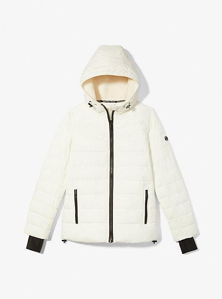 마이클 마이클 코어스 숏패딩 Michael Michael Kors Packable Puffer Jacket,BONE