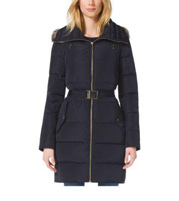 48be2d2c52e5b Faux Fur-Trimmed Down-Filled Jacket