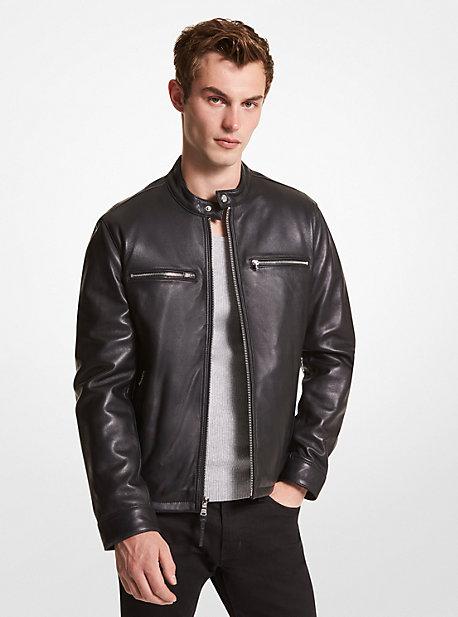 73725972580 Leather Moto Jacket · michael kors ...