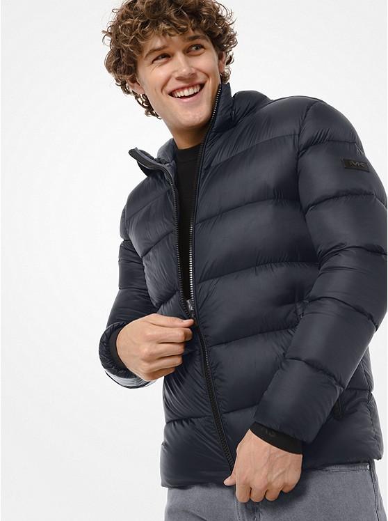 Michael Kors Men's Quilted Nylon Hooded Puffer Jacket