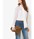 Pleated Chiffon Tie-Neck Blouse