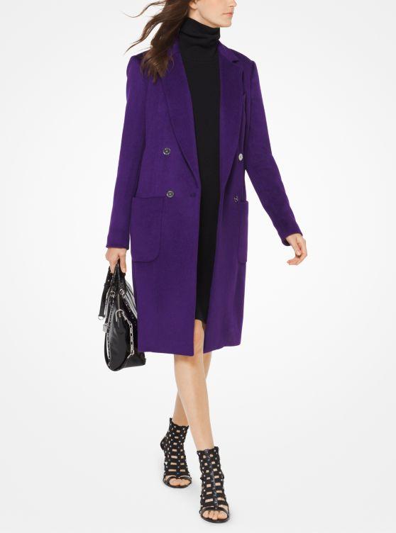 Wool-Blend Officer's Coat