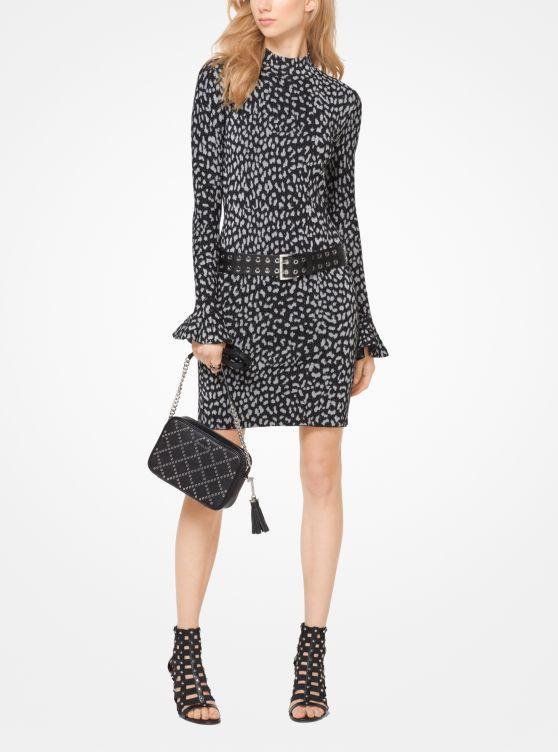 Leopard Jacquard Knit Dress