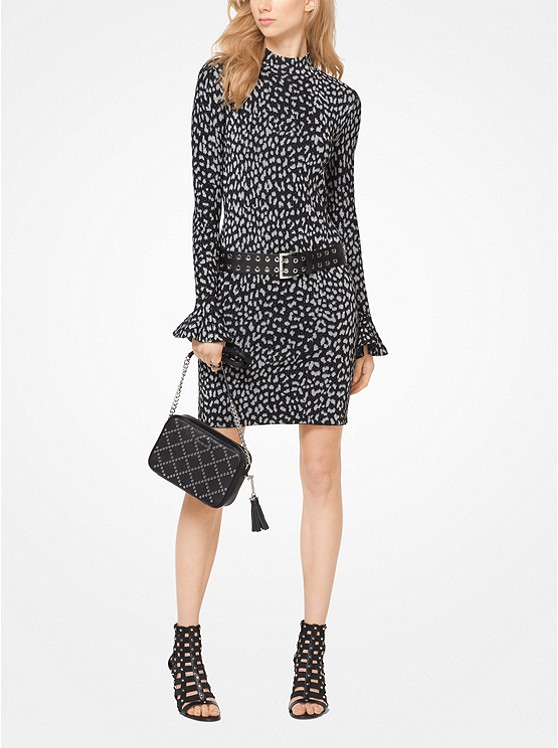 Leopard Jacquard Knit Dress