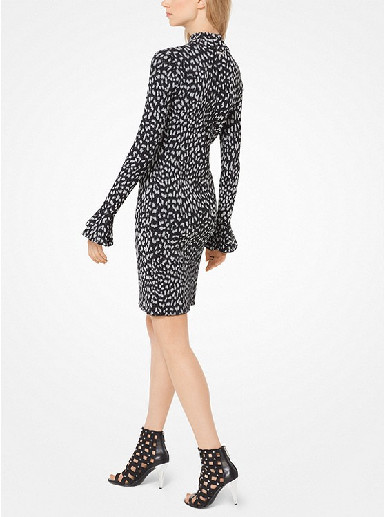 Estampado de leopardo de punto de Jacquard