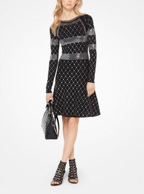 46f3c0f9126 Studded Jersey Dress
