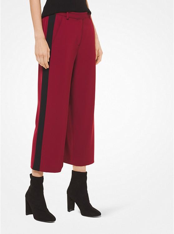 9ad7444ef4f1d Jupe-culotte en viscose extensible à rayures contrastées