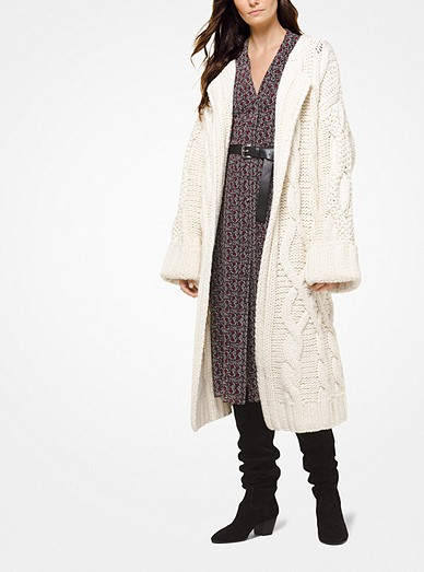 4b527fe8c5 Cable-knit Oversized Cardigan