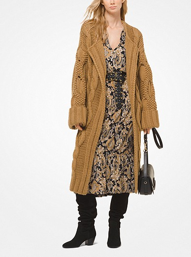 b4caf27682 Cable-knit Oversized Cardigan