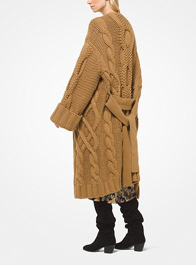 60cba2388a Cable-Knit Oversized Cardigan. MICHAEL Michael Kors