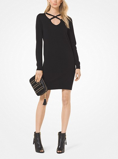 d106f7a0efd Cotton And Viscose Cutout Sweatshirt Dress