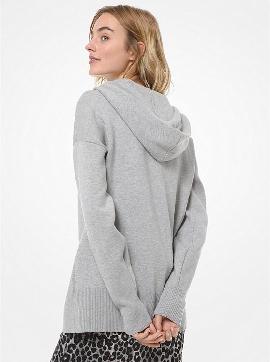 Pull à capuche en coton extensible à chaîne avec logo